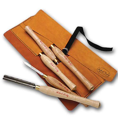 Sorby 5HSLTR 5 Pc  Turning Tool Set with Leather Tool Roll