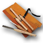 Sorby #5HSLTR 5 Pc. Turning Tool Set With Leather Tool Roll
