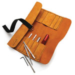 Sorby 888HS6LTR Modular Micro Tool Turning Set with Leather Tool Roll