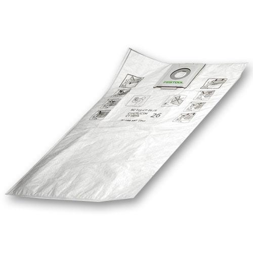 Festool 498410 CT MINI Self Cleaning Filter Bags, 5 ct