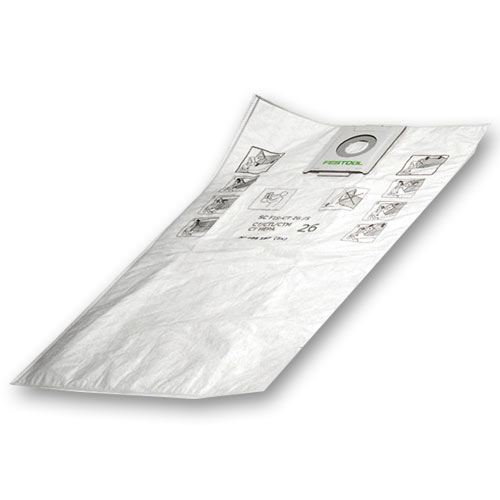 Festool 498411 CT MIDI Self Cleaning Filter Bags, 5 ct