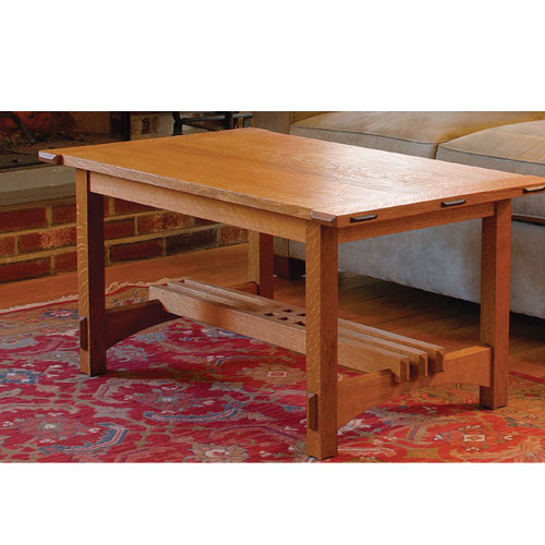 Fine Woodworking Arts & Crafts Coffee Table Plan
