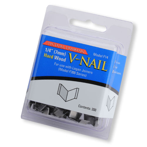 LOGAN NO  F14 PICTURE FRAMING V-NAILS - QUARTER INCH HARD