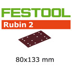 Festool 499048 Rubin 2 P80 Abrasives - 80 x 133mm - 50 Pk.