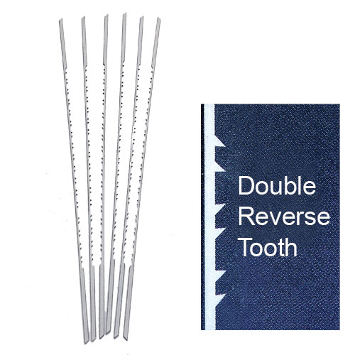 OLSON PGT DOUBLE / REVERSE TOOTH SCROLL SAW BLADES -  NO  7RG