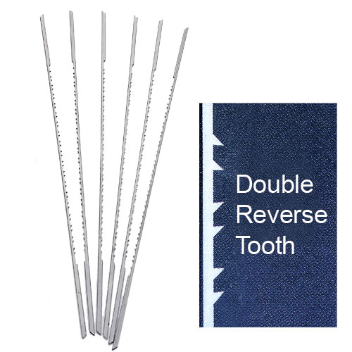 OLSON PGT DOUBLE / REVERSE TOOTH SCROLL SAW BLADES - NO  5RG
