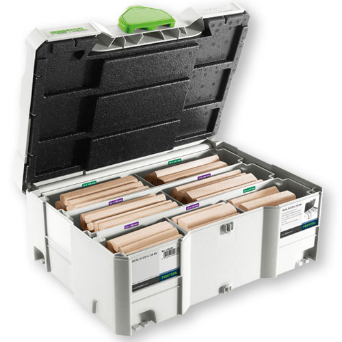 Festool 498205 Domino XL Tenon Systainer Assortment - 12 / 14mm