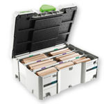 Festool 498205 Domino XL Tenon Systainer Assortment, 12 / 14mm