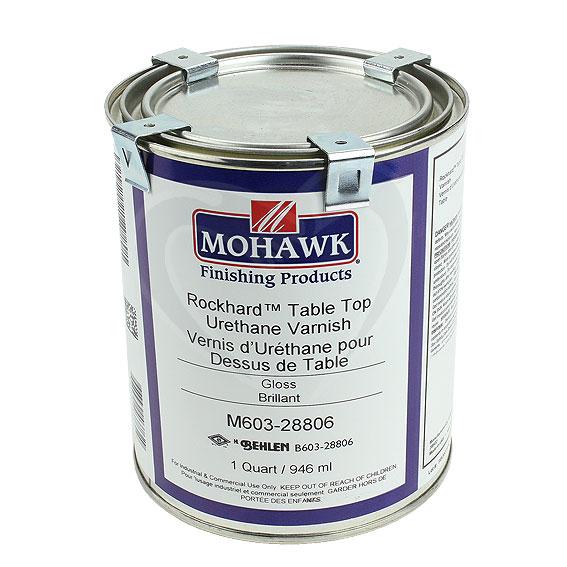 Mohawk M603-28806 Gloss Rockhard Table Top Urethane Varnish, Quart