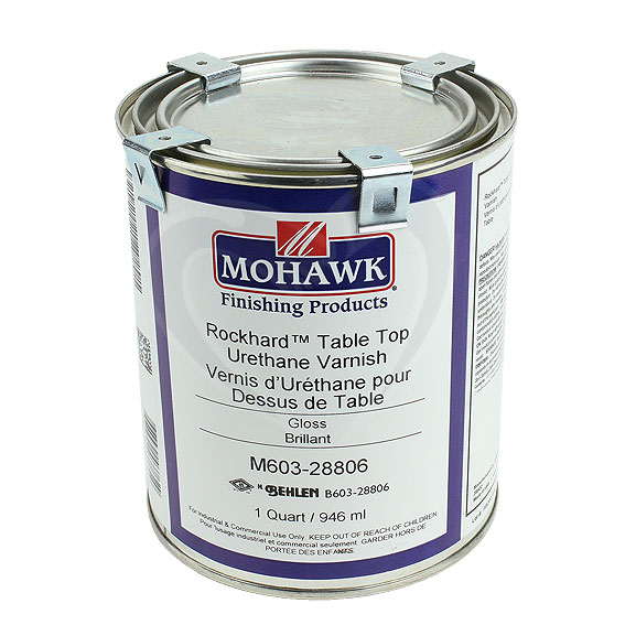 Mohawk M603-28806 Gloss Rockhard Table Top Urethane Varnish, Quart