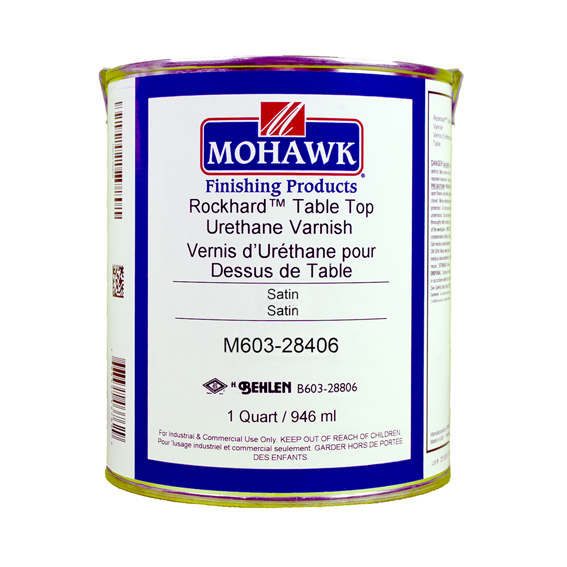 Mohawk M603-28406 Satin Rockhard Table Top Urethane Varnish, Quart
