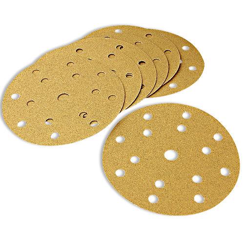 Mirka Gold Multi-Hole 6 Inch x 400 Grit Sanding Discs - 50 Pk