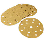 Mirka Gold Multi-Hole 6 x 600 Grit Sanding Discs - 50 Pk.