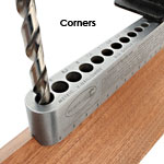 BIG GATOR TOOLS V-DRILL GUIDE - METRIC - IN USE CORNER