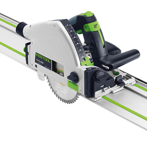 Festool 575388 TS 55 REQ Plunge-Cut Track Saw Imperial With 55 Inch Guide
