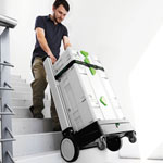 FESTOOL SYS-ROLL SYSTAINER & STORAGE DOLLY - IN USE