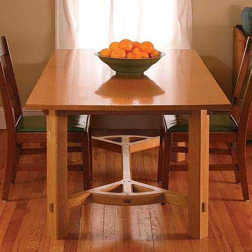 FINE WOODWORKING ARTS & CRAFTS HAYRAKE TABLE PLAN