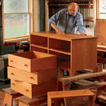 FINE WOODWORKING SHAKER CHEST OF DRAWERS PLAN