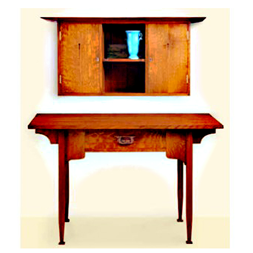 FINE WOODWORKING ARTS & CRAFTS DESK AND WALL CABINET PLAN