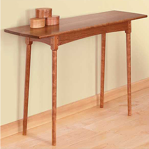 FINE WOODWORKING SHAKER HALL TABLE PLAN