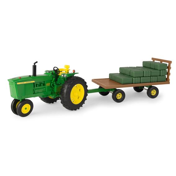 Tomy Big Farm John Deere 1:16 Scale Model 4020 Tractor & Wagon Set