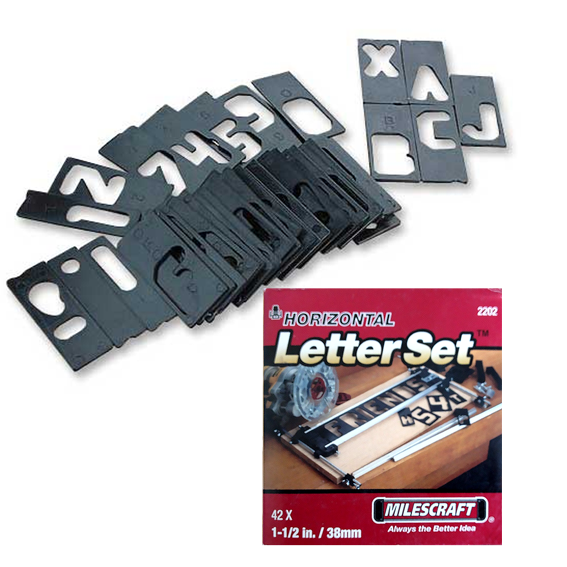 Milescraft #2202 Horizontal Letter Set - 1-1/2 Inch