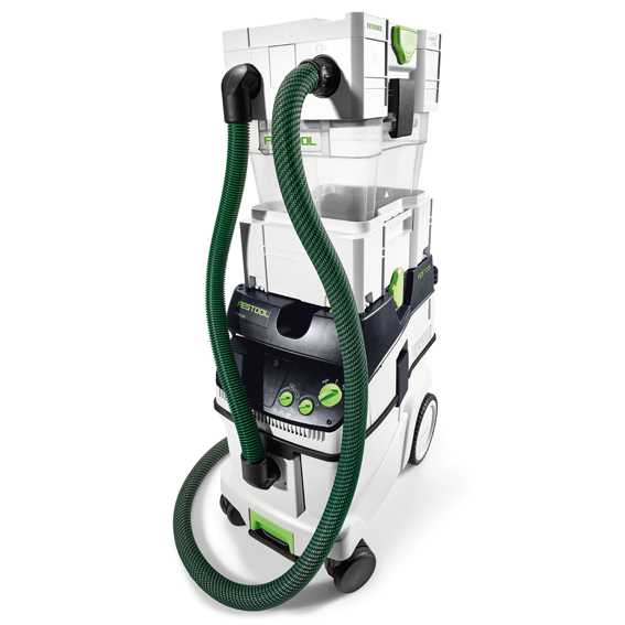 Festool 204083 CT-VA-20 Cyclone Separator, On Extractor