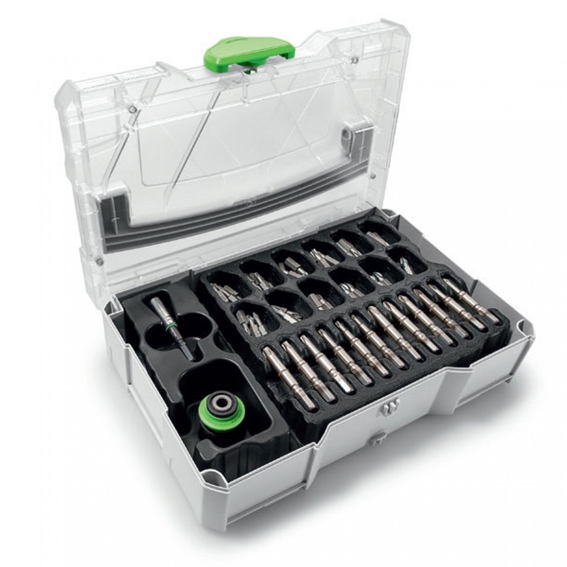 Festool 203815 Mini-Systainer T-LOC SYS-CE MINI 1 TL TRA With 74 Pc  Centrotec Accessory Set