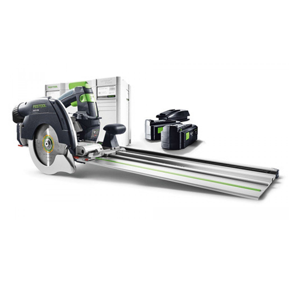 Festool 201374 HKC 55 EB + FSK670 Cordless Carpentry Saw