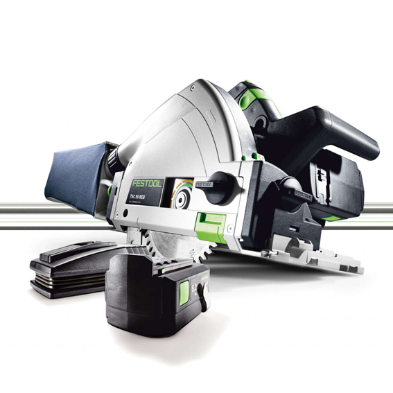 Festool 201403 TSC 55 REB Li FS Set Cordless Plunge-Cut Track Saw Imperial With LR32 55 Guide Rail