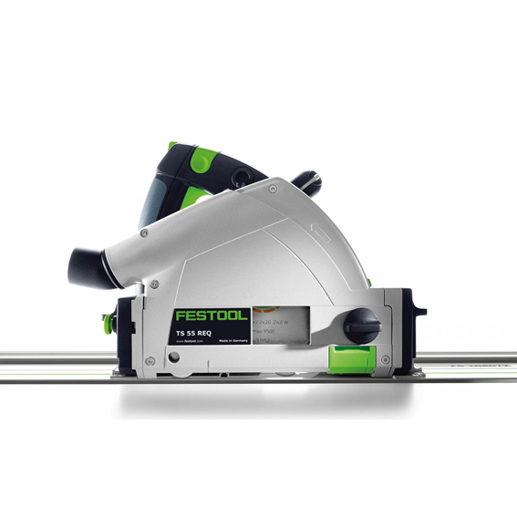 Festool 575388 TS 55 REQ Plunge-Cut Track Saw Imperial With 75 Inch Guide Rail