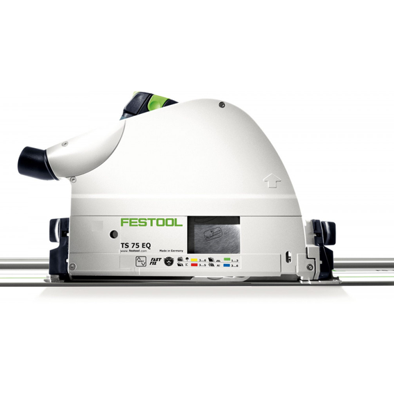 Festool 575390 TS 75 EQ Plungecut Saw Imperial With LR32 95 Guide Rail
