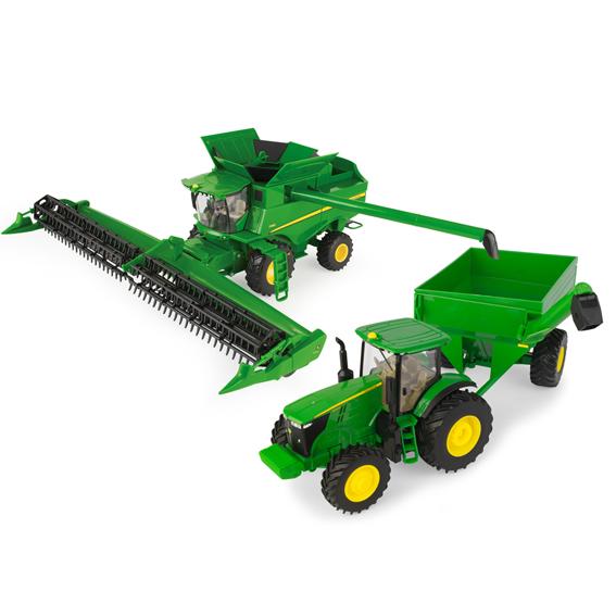 Ertl John Deere 1:32 Scale Harvesting Set
