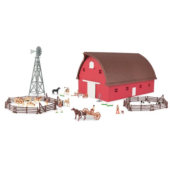 Ertl Farm Country 1:64 Scale Round Gable Barn Set
