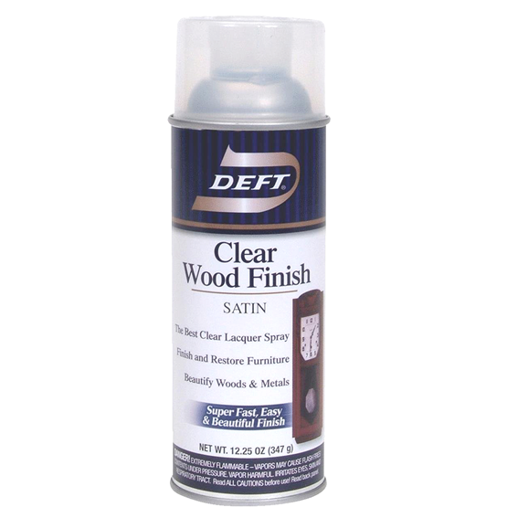 Deft DFT017/54 Clear Wood Finish Lacquer - Satin - 12.25 oz.