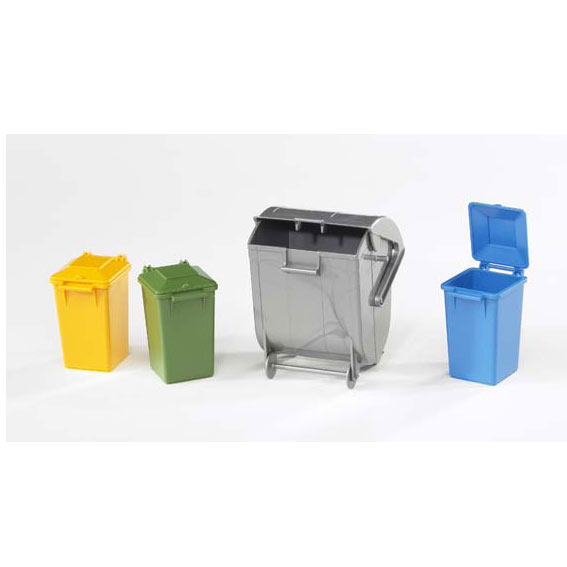 Bruder #02607 1:16 Scale 4 Pc. Trash Bin Set