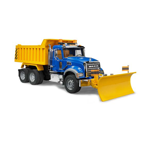 Bruder #02825 1:16 Scale Mack Granite Dump Truck w/Plow