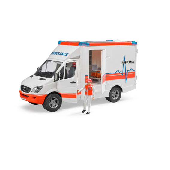 Bruder #02536 1:16 Scale MB Sprinter Ambulance with Driver