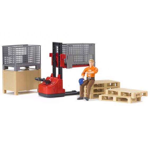 Bruder 62200 Bworld Logistics Set with Worker