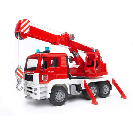 Bruder #02770 1:16 Scale MAN Fire Engine Crane Truck with Light & Sound Module