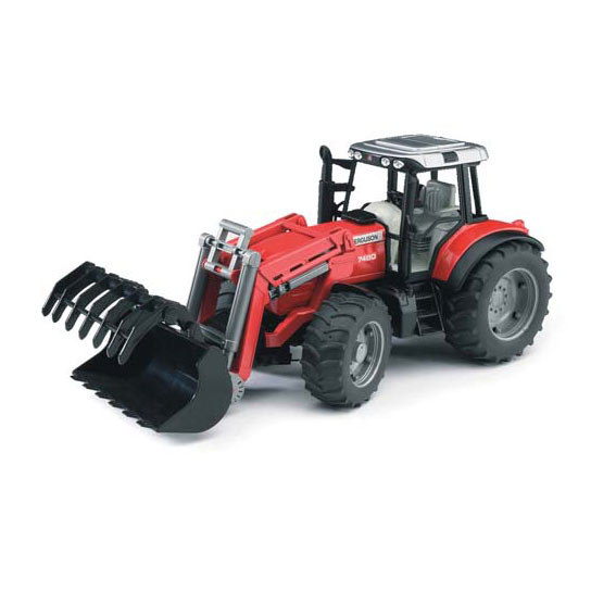 Bruder #02042 1:16 Scale Massey Ferguson 7480 Tractor with Front Loader