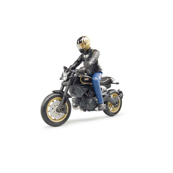 Bruder #63050 1:16 Scale Scrambler Ducati Cafe Racer Motorcycle with Rider