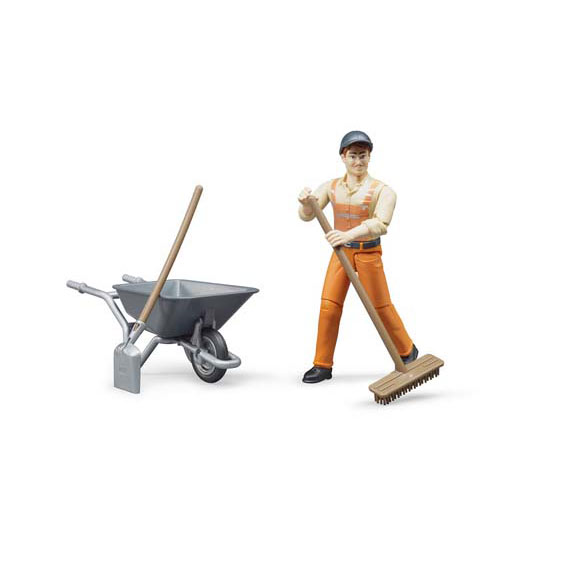 Bruder #62130 1:16 Scale Municipal Worker with Accessories