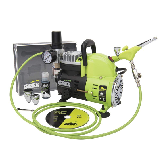 Grex GCK05 Genesis.XGi3 Combo Kit - Ergonomic Dual Action Top Gravity Airbrush & Compressor