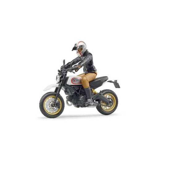 Bruder #63050 1:16 Scale Scrambler Ducati Desert Sled Motorcycle with Rider
