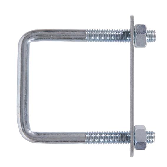 Hillman 320898 3/8-16 x 3 x 4 Zinc Plate Steel Square U-Bolt with Hex Nuts