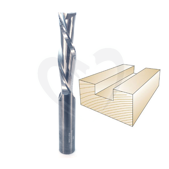 Whiteside #RD7306 Spiral Down Cut Bit - 3/4 SH X 3/4 CD X 3 CL