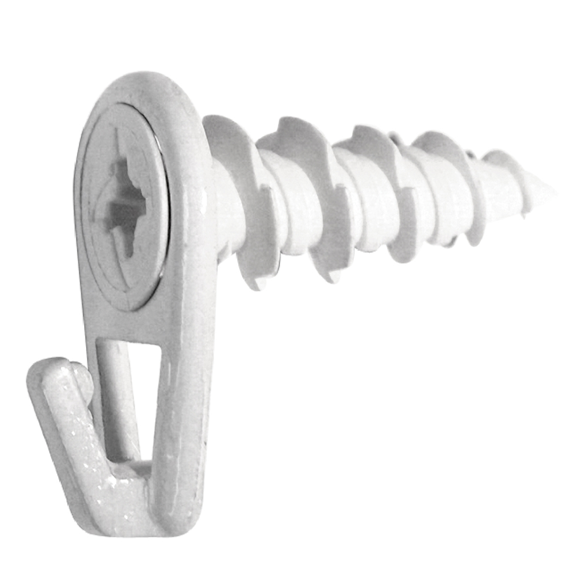 Hillman 122401 Small White Self-Drilling Wall Driller Picture Hangers - 2 Pk.