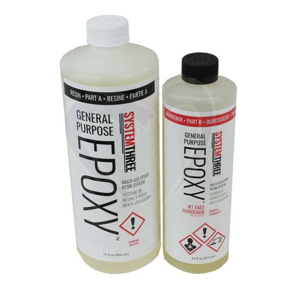 System Three General Purpose Epoxy Kit w/#1 Fast Hardener, 1-1/2 Quart