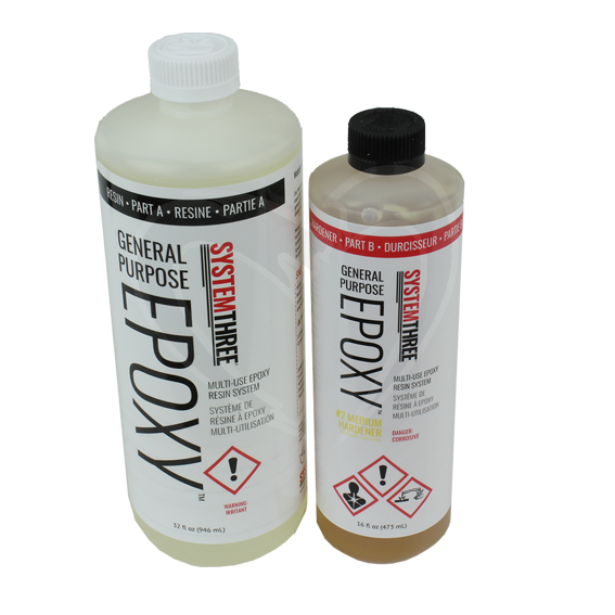 System Three General Purpose Epoxy Kit w/#2 Medium Fast Hardener - 1-1/2 Quart